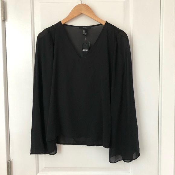 Forever 21 Tops - Forever 21 Long Sleeve Black Top